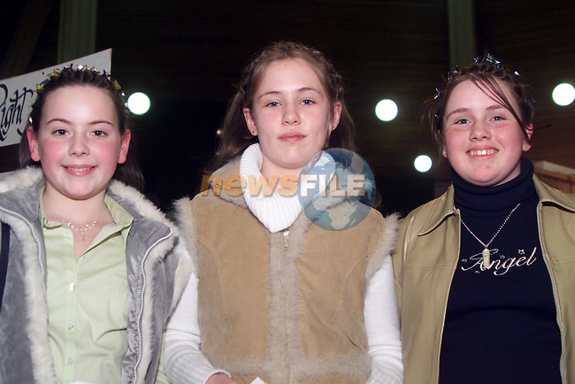 Elaine Mathews, Nicola Martin and Orla Manning pictured at their confirmation in Ardee..pic: Newsfile