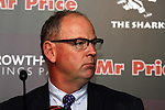 DURBAN - 7 October 2013 - Former Springbok coach Jake White (pictured) answers questions at a press conference where Sharks chief executive John Smit had moments earlier announced that White wouldl coach the Sharks. White coached the victorious Springbok team that won the World Cup. Smit was the captain of that team. Picture: Allied Picture Press/APP