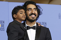 www.acepixs.com<br /> <br /> January 8 2017, LA<br /> <br /> Sunny Pawar (l) and Dev Patel appeared in the press room during the 74th Annual Golden Globe Awards at The Beverly Hilton Hotel on January 8, 2017 in Beverly Hills, California.<br /> <br /> By Line: Famous/ACE Pictures<br /> <br /> <br /> ACE Pictures Inc<br /> Tel: 6467670430<br /> Email: info@acepixs.com<br /> www.acepixs.com