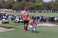 Patrick Reed (USA) on the 16th green during the First Round - Four Ball of the Presidents Cup 2019, Royal Melbourne Golf Club, Melbourne, Victoria, Australia. 12/12/2019.<br /> Picture Thos Caffrey / Golffile.ie<br /> <br /> All photo usage must carry mandatory copyright credit (© Golffile | Thos Caffrey)