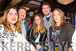 Clare Lynch, Darryl Besui, Linda Byrne Alan O'Sullivan and Marie Ward all from Tralee at the Stand Up Comedy Show in the Abbey Inn Tralee on Friday