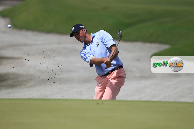 Matt Kuchar (USA) chips onto the 1st green during Friday's Round 2 of the 94th PGA Golf Championship at The Ocean Course, Kiawah Island, South Carolina, USA 9th August 2012 (Photo Eoin Clarke/www.golffile.ie)