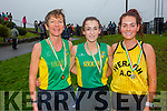 Winners of the Ladies Senior Cross County Championships in Cahersiveen on Sunday were l-r; Niamh O'Sullivan(3rd Riocht AC), Shona Heslip(1st Riocht AC) & Grace Lynch(2nd Iveragh AC).