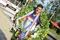 FIERLJEPPEN: GRIJPSKERK: 27-08-2016, Nederlands Kampioenschap Fierljeppen/Polsstokverspringen, Bart Helmholt 20.41 meter (heren), ©foto Martin de Jong