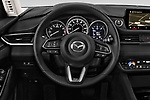 Car pictures of steering wheel view of a 2018 Mazda Mazda6 Grand Touring Reserve 4 Door Sedan