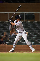 Glendale Desert Dogs Pablo Abreu (3), of the Milwaukee Brewers organization, at bat during an Arizona Fall League game against the Scottsdale Scorpions on September 20, 2019 at Salt River Fields at Talking Stick in Scottsdale, Arizona. Scottsdale defeated Glendale 3-2. (Zachary Lucy/Four Seam Images)