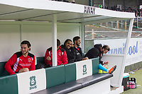 The Fleetwood bench ahead of the Sky Bet League 1 match between Plymouth Argyle and Fleetwood Town at Home Park, Plymouth, England on 7 October 2017. Photo by Mark  Hawkins / PRiME Media Images.