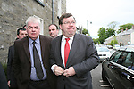 Arriving at the Conyngham Arms in Slane where Brian Cohen attended with Local Candidates..Photo NEWSFILE/Jenny Matthews.(Photo credit should read Jenny Matthews/NEWSFILE)....This Picture has been sent you under the condtions enclosed by:.Newsfile Ltd..The Studio,.Millmount Abbey,.Drogheda,.Co Meath..Ireland..Tel: +353(0)41-9871240.Fax: +353(0)41-9871260.GSM: +353(0)86-2500958.email: pictures@newsfile.ie.www.newsfile.ie.FTP: 193.120.102.198.