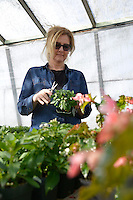 At the city greenhouse with  gardner Jane Bastien