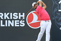 Alexander Levy (FRA) tees off the 17th tee during Sunday's Final Round of the 2018 Turkish Airlines Open hosted by Regnum Carya Golf &amp; Spa Resort, Antalya, Turkey. 4th November 2018.<br /> Picture: Eoin Clarke | Golffile<br /> <br /> <br /> All photos usage must carry mandatory copyright credit (&copy; Golffile | Eoin Clarke)