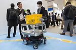 Visitors gather during the 3rd Robot Development and Application Expo (RoboDEX) in Tokyo Big Sight on January 17, 2019, Tokyo, Japan. The exhibition introduces the latest products and technologies from robot companies during the three-day event until January 18. (Photo by Rodrigo Reyes Marin/AFLO)