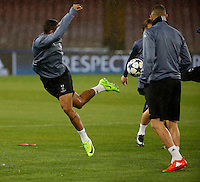 Danilo  during training session  at eve  the Champions League Group  soccer match between SSC Napoli and Real Madrid   at the San Paolo  Stadium inNaples March 06, 2017