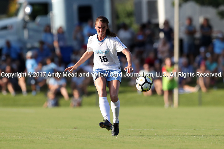 CARY, NC - AUGUST 18: North Carolina's Julia Ashley. The University of North Carolina Tar Heels hosted the Duke University Blue Devils on August 18, 2017, at Koka Booth Stadium in Cary, NC in a Division I college soccer game.