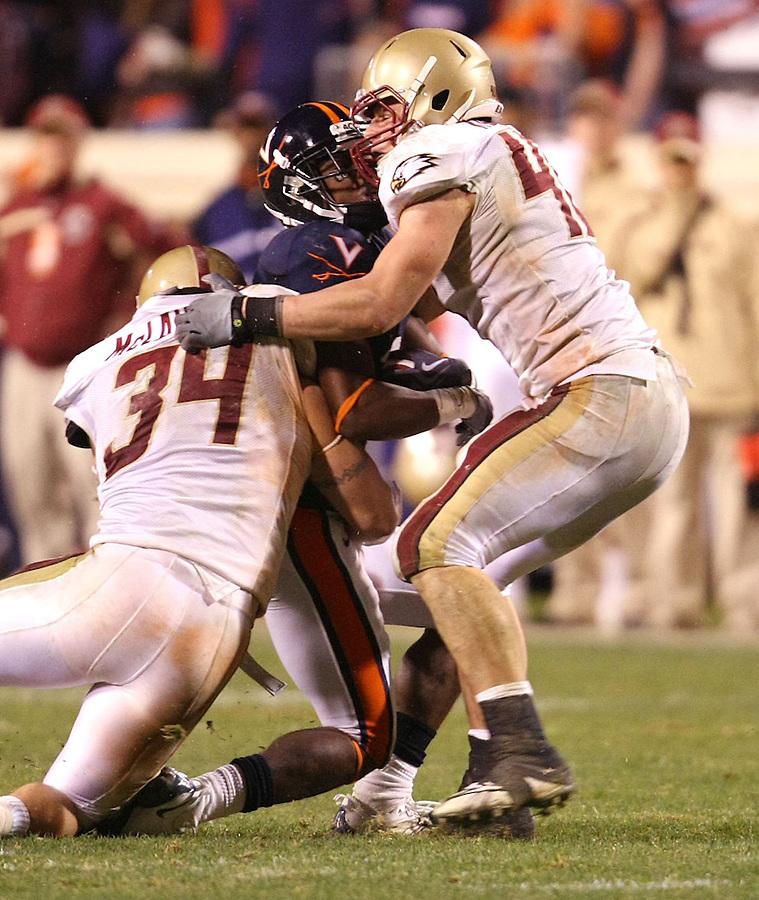 Virginia lost to Boston College 14-10 during a college football game Saturday November 14, 2009 in Charlottesville, Va. Photo/Andrew Shurtleff