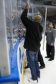 The game had to be stopped multiple times for repairs by the arena crew. - The Yale University Bulldogs defeated the Air Force Academy Falcons 2-1 (OT) in their East Regional Semi-Final matchup on Friday, March 25, 2011, at Webster Bank Arena at Harbor Yard in Bridgeport, Connecticut.