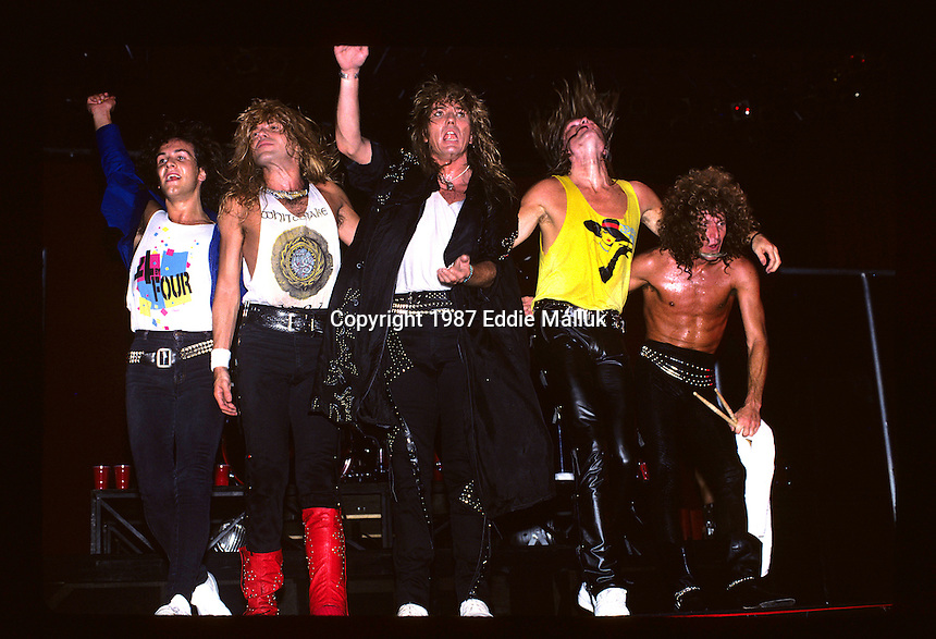 Whitesnake performs at Madison Square Garden in New York US