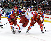 Pavel Chernov (Russia - 10), Tomas Knotek (Czech Republic - 15), Vyacheslav Voinov (Russia - 24) - Russia defeated the Czech Republic 5-1 on Friday, January 2, 2009, at Scotiabank Place in Kanata (Ottawa), Ontario, during the 2009 World Junior Championship.