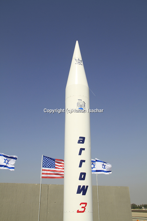 Israel's Arrow 3 designed to intercept long-range missiles,  the system was developed by Israel Aerospace Industries and Boeing