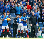 05.05.2019 Rangers v Hibs: Alfredo Morelos on for Jermain Defoe