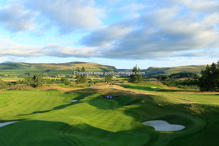 Views of the PGA Centenary Course after round three of the 2013 Johnnie Walker Championship being played over the PGA Centenary Course, Gleneagles, Perthshire from 22nd to 25th August 2013: Picture Stuart Adams www.golftourimages.com: 23rd August 2013