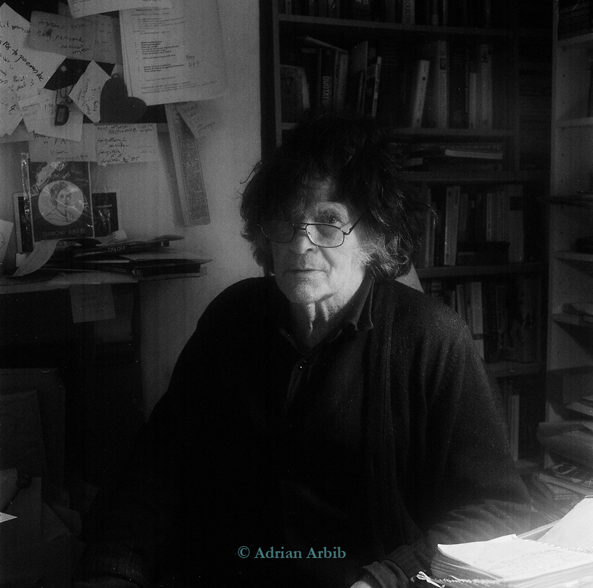 Heathcote Williams (born 15 November 1941)  poet, actor, political activist and dramatist. <br /> At his home in Oxford.<br /> He has written a number of best-selling book-length polemical poems including Autogeddon, Falling for a Dolphin and Whale Nation