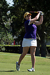 HOUSTON, TX - MAY 12: Phoebe Mattana of Williams College tees off during the Division III Women's Golf Championship held at Bay Oaks Country Club on May 12, 2017 in Houston, Texas. (Photo by Rudy Gonzalez/NCAA Photos/NCAA Photos via Getty Images)