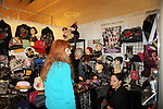 Jane Elissa' Hats for Health (promoting awareness and to raise money for Leukemia/Lymphoma cancer research and patient aid) along with shawls, purses, bags, NY drawings, gloves, scarves, magnets at the booth at the Grand Central's Vanderbilt Hall Holiday Fair on December 24, 2010 in New York City, New York. There are 76 vendors with the fair running from Thanksgiving to Dec. 24. (Photo by Sue Coflin/Max Photos)