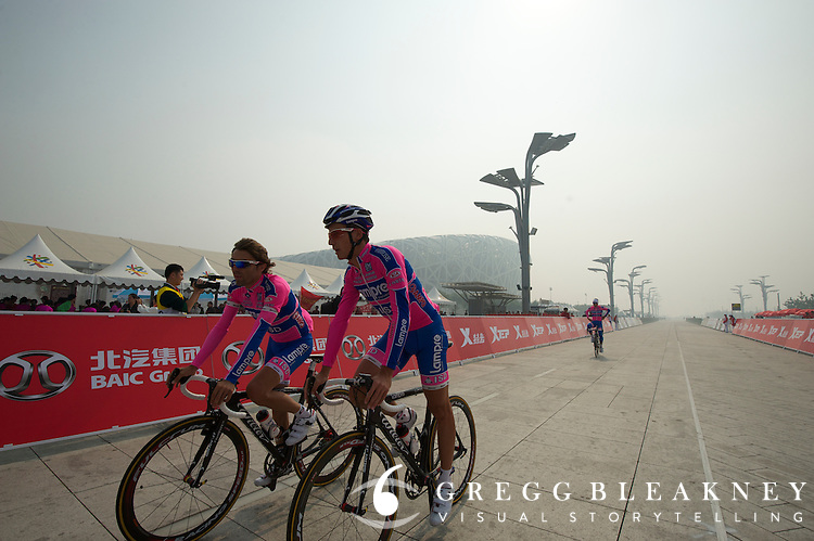 Lampre pre-rides the course - 2011 Tour of Beijing, Stage 1 ITT