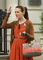 August 17, 2012 Leighton Meester shooting on location for Gossip Girl in New York City. &copy; RW/MediaPunch Inc. /NortePhoto.com<br />