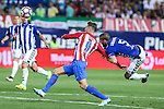Atletico de Madrid's Fernando Torres and Deportivo Alaves's Victor Laguardia Cisneros during the match of La Liga Santander between Atletico de Madrid and Deportivo Alaves at Vicente Calderon Stadium. August 21, 2016. (ALTERPHOTOS/Rodrigo Jimenez)