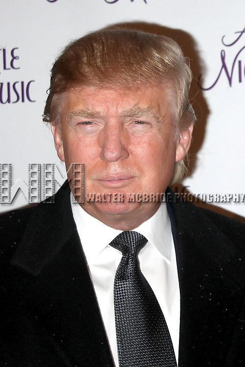 Donald Trump Arriving for the Opening night Performance of Broadway's <br />