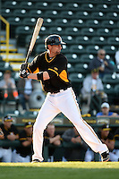 Bradenton Marauders catcher Chris Stewart (38), on rehab assignment from the Pittsburgh Pirates, at bat during a game against the Palm Beach Cardinals on April 9, 2014 at McKechnie Field in Bradenton, Florida.  Palm Beach defeated Bradenton 3-1.  (Mike Janes/Four Seam Images)