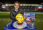 """Andy Little gets his copy of """"Glasgow Rangers -The Journey"""" at Ibrox this evening"""