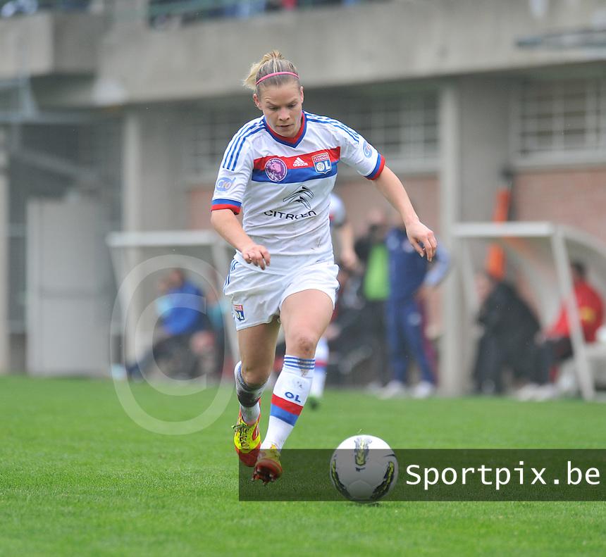 1/2 finale Coupe De France in Arras , stade Degouve : Arras - Olympique Lyonnais Lyon : Eugenie Le Sommer.foto JOKE VUYLSTEKE / Vrouwenteam.be