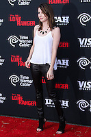 ANAHEIM, CA - JUNE 22: Emma Roberts attends The World Premiere of Disney/Jerry Bruckheimer Films' 'The Lone Ranger' at Disney California Adventure Park on June 22, 2013 in Anaheim, California. (Photo by Celebrity Monitor)