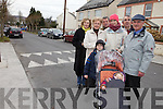 CHAOS: Residents from Oakview Estate in Tralee are being subjected to abusive behaviour from people illegally parking in front of their homes at school pickup times. Pictured from l-r were: Ann Farnon, Pidgie Cavanagh, Dan Raele, Eileen Moriarty,  Cllr. Pat Hussey, Nicholas Quirke and children Denis and Evelyn Moriarty..