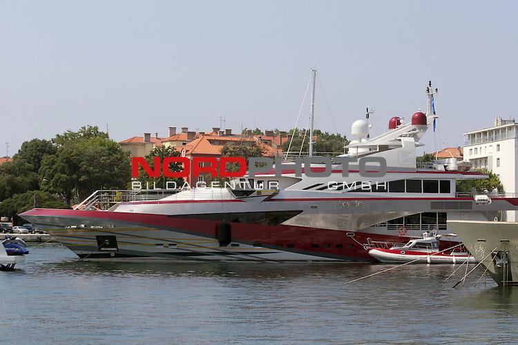 EXCLUSIVE  19.07.2013., Zadar, Croatia - The 50 meter joyMe yacht owned by billionaire Philip Zepter, president and founder of Zepter International anchored in the port of Zadar. Market value of yacht is estimated at around 30 million euros.    Foto © nph / Zeljko Mrsic