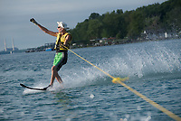 Owen Hagan of Corunna has been water skiing along the St. Clair River all his life.