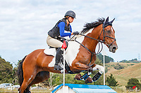 Gemma Hampson rides Just Rock On during the Cross Country for Class 1A NZPCA 1.05m. Final-1st. 2019 NZL-Hunua Pony Club 2DE. Proudly Sponsored by Golden Horse Feeds and Christophe Pallies. Sunday 3 February. Copyright Photo: Libby Law Photography