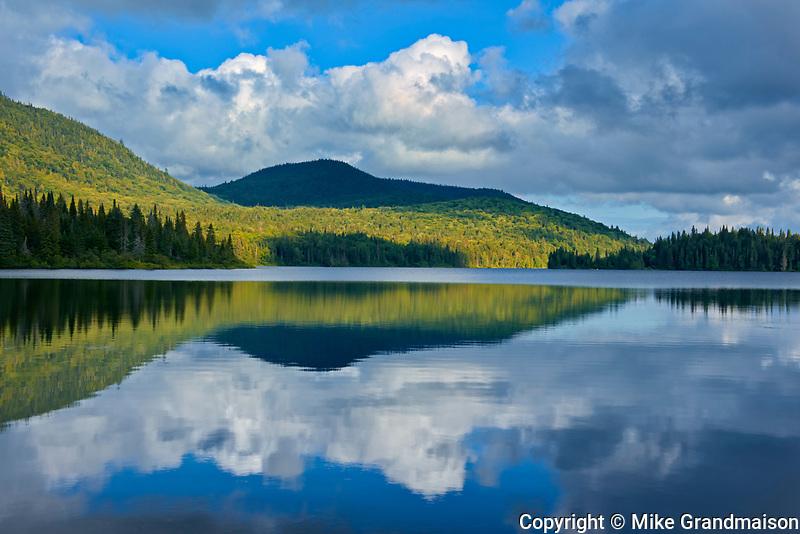 Cloud reflection in Lac Modène<br />La Mauricie National Park<br />Quebec<br />Canada