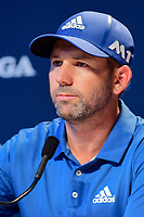 Sergio Garcia (ESP) is interviewed during Wednesday's preview of the PGA Championship at the Quail Hollow Club in Charlotte, North Carolina. 8/9/2017.<br /> Picture: Golffile | Ken Murray<br /> <br /> <br /> All photo usage must carry mandatory copyright credit (&copy; Golffile | Ken Murray)