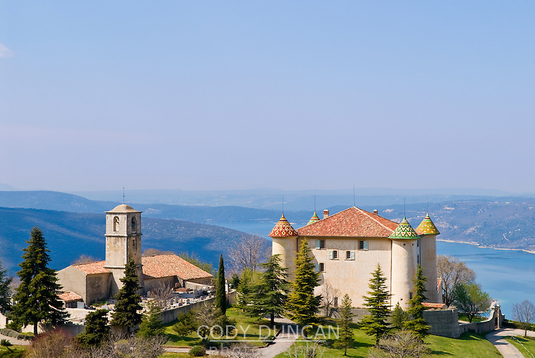 !7th century french chateau in the village of Aiguines, overlooking Lac de Sainte Croix