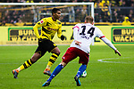 10.02.2018, Signal Iduna Park, Dortmund, GER, 1.FBL, Borussia Dortmund vs Hamburger SV, <br /> <br /> im Bild | picture shows:<br /> Manuel Akanji (Borussia Dortmund #16) mit Aaron Hunt (Hamburger SV #14), <br /> <br /> <br /> Foto &copy; nordphoto / Rauch
