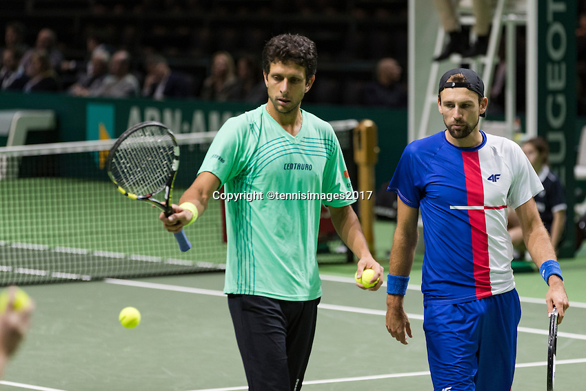 ABN AMRO World Tennis Tournament, Rotterdam, The Netherlands, 17 Februari, 2017, Marcelo Melo (SVK), Lukasz Kubot (CZE)<br /> Photo: Henk Koster