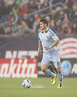Sporting Kansas City midfielder Milos Stojcev (88). In a Major League Soccer (MLS) match, the New England Revolution defeated Sporting Kansas City, 3-2, at Gillette Stadium on April 23, 2011.