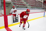 Wisconsin Badgers women's hockey players skate on the ice for the first time on move-in day at the LaBahn Arena Monday, October 1, 2012 in Madison, Wisc. (Photo by David Stluka)