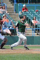 University of South Florida Bulls outfielder Luke Maglich (18) during a game against the Temple University Owls at Campbell's Field on April 13, 2014 in Camden, New Jersey. USF defeated Temple 6-3.  (Tomasso DeRosa/ Four Seam Images)