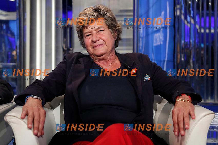 Susanna Camusso <br /> Roma 28-09-2016. Rai. Trasmissione tv Porta a Porta.<br /> Rome 28th September 2016. Rai tv. Talk show Porta a PortaPhoto Samantha Zucchi Insidefoto
