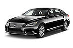 2016 Lexus LS President Line  4 Door Sedan Angular Front stock photos of front three quarter view
