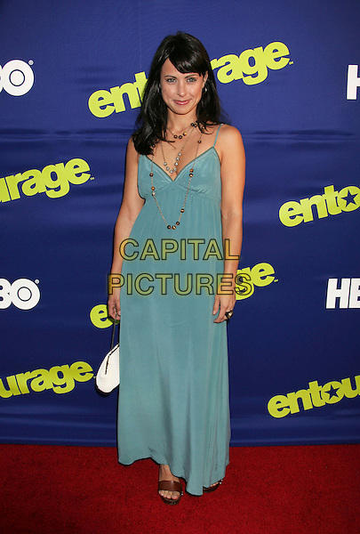 "CONSTANCE ZIMMER.At the Season Premiere of HBO's ""Entourage"", .Cinerama Dome, Hollywood, Los Angeles, .California, USA, 01 June 2006..full length blue dress.Ref: ADM/RE.www.capitalpictures.com.sales@capitalpictures.com.©Russ Elliot/AdMedia/Capital Pictures."